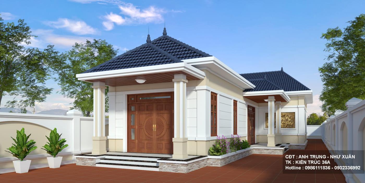 Thiết Kế Nhà 1 Tầng Mái Thái Tại Thanh hóa