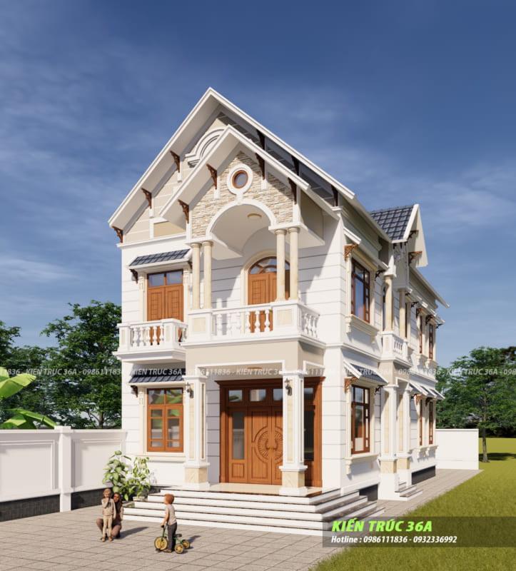 Mẫu Biệt Thự 2 Tầng Tại Thanh Hóa,thiết kế Nhà Đẹp Tại Thanh Hóa,kiến trúc 36a